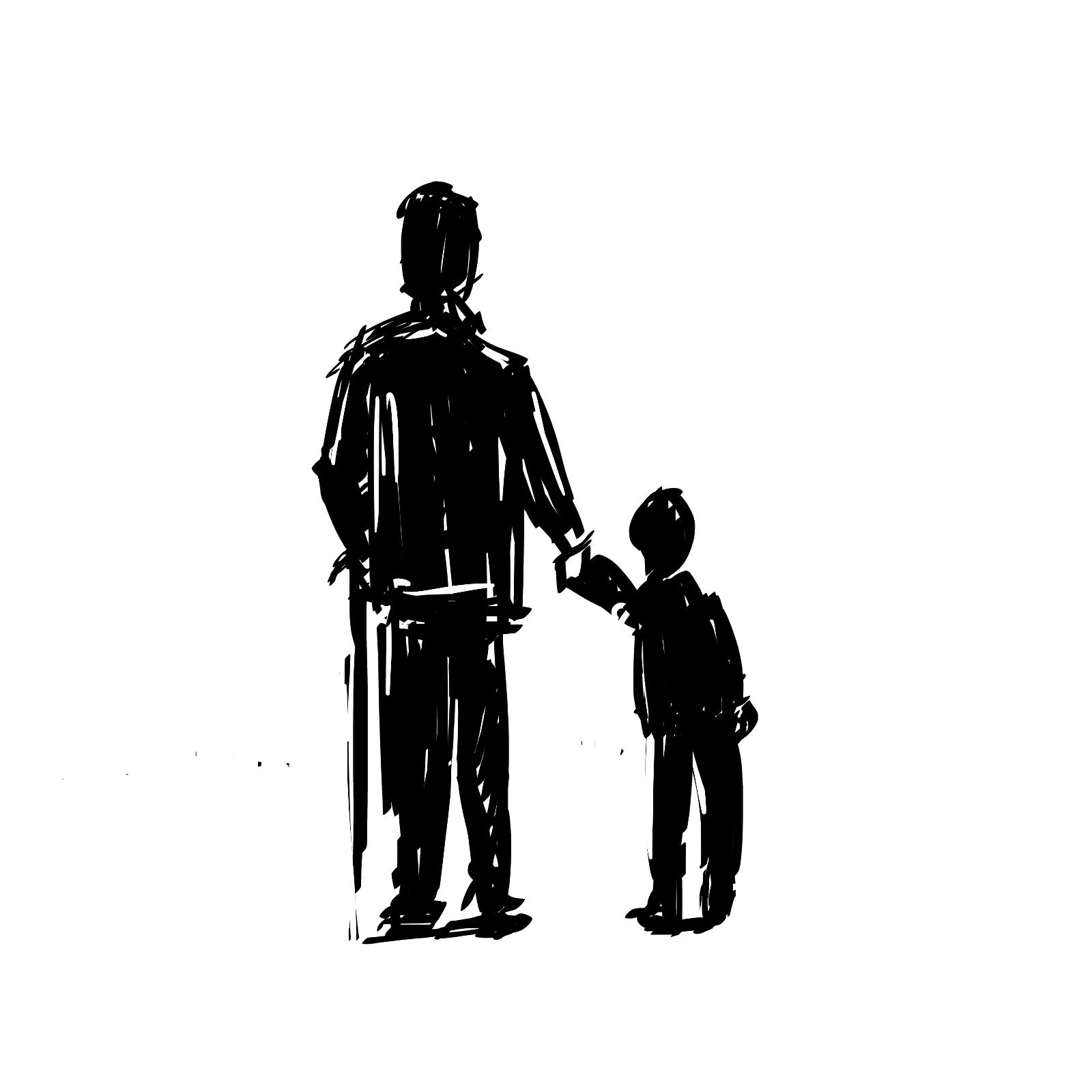 czarno-biały rysunek zarządca sukcesyjny