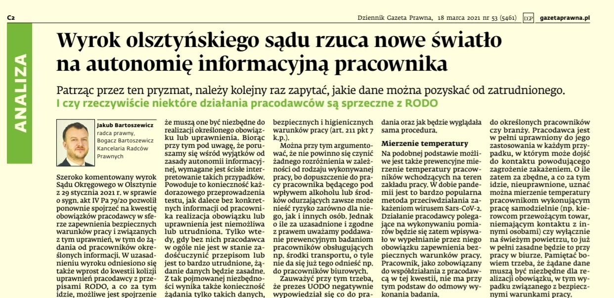 Jakub Bartoszewicz; artykuł; DGP